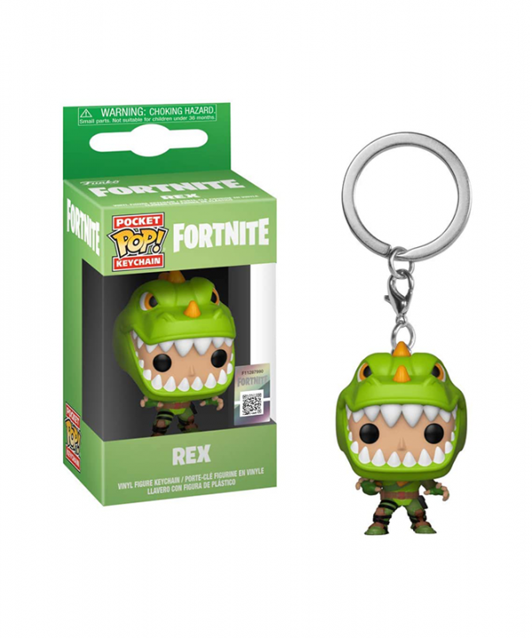 Chaveiro Fortnite - Rex - Funko Pop!
