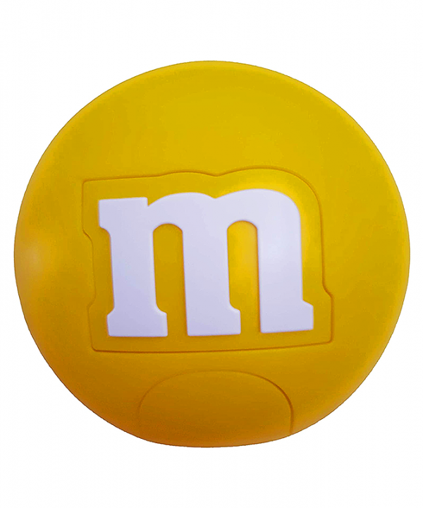 M&M - Dispenser Redondo de Chocolates - Amarelo
