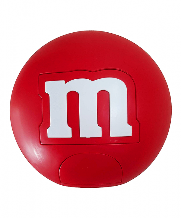M&M - Dispenser Redondo de Chocolates - Vermelho