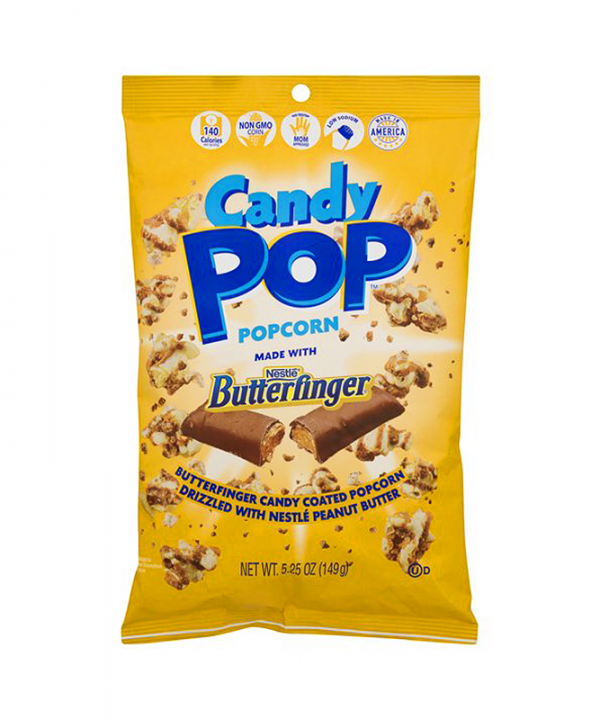Candy POP - Pipoca de Butterfinger - com Chocolate e Manteiga de Amendoim