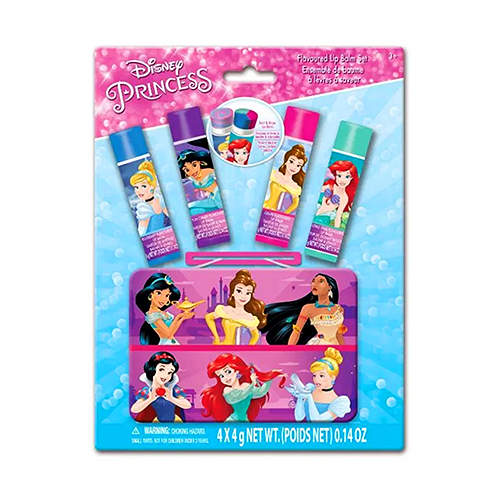 Disney Pricess - Kit de Lip Balm - com 4 + caixinha