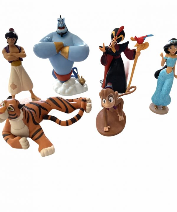 Aladdin - Playset - com 6 Personagens - Original - Shop Disney (sem caixa)
