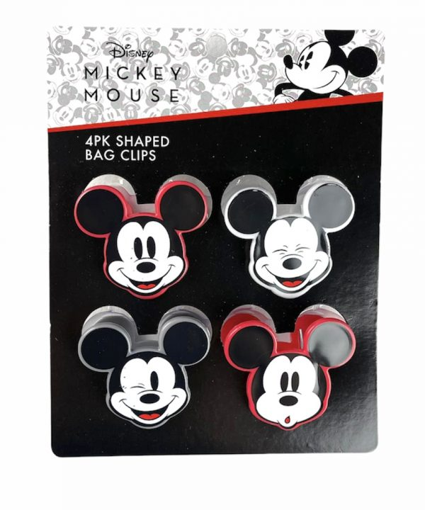 Bag Clip - Mickey Mouse - Kit com 4 Clips