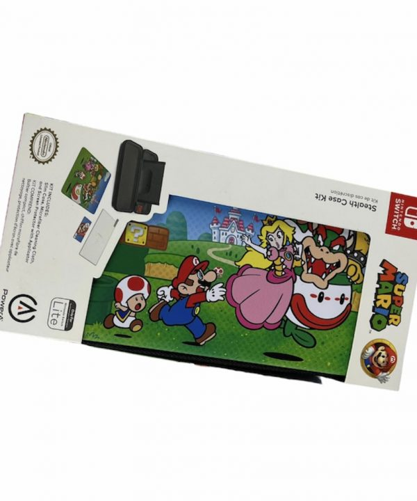 Case - Nintendo Switch Lite - Super Mario - Toad, Bowser e Princess Peach
